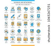 database and networking icons... | Shutterstock .eps vector #1065267251