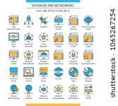 database and networking icons... | Shutterstock .eps vector #1065267254
