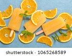 orange ice cream   Shutterstock . vector #1065268589