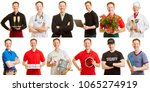 man in different professions... | Shutterstock . vector #1065274919