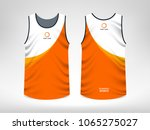 sleeveless sport t shirt design | Shutterstock .eps vector #1065275027