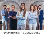 group of happy business people... | Shutterstock . vector #1065276467