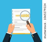 user manual. close up... | Shutterstock .eps vector #1065279224