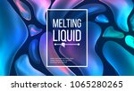 fluid liquid background vector. ... | Shutterstock .eps vector #1065280265
