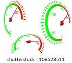 abstract speedometer in three... | Shutterstock .eps vector #106528511