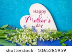 bouquet of lilies of the valley ... | Shutterstock . vector #1065285959