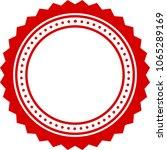red monochrome simple ornament... | Shutterstock .eps vector #1065289169