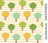 cute cartoon seamless vector...   Shutterstock .eps vector #1065293831