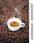 espresso coffee cup top view. | Shutterstock . vector #1065303767