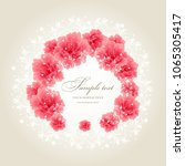 wedding card or invitation with ...   Shutterstock .eps vector #1065305417