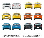 set of different types of cars. ... | Shutterstock .eps vector #1065308054