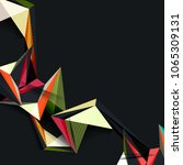 geometric abstract background... | Shutterstock .eps vector #1065309131