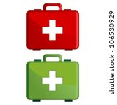 red and green first aid kit... | Shutterstock .eps vector #106530929