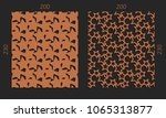 laser cutting set. woodcut... | Shutterstock .eps vector #1065313877