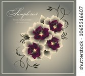 wedding card or invitation with ...   Shutterstock .eps vector #1065316607