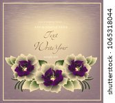 wedding card or invitation with ...   Shutterstock .eps vector #1065318044