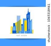 real estate logo.  building.... | Shutterstock .eps vector #1065318461