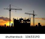 two cranes build construction... | Shutterstock . vector #10653193