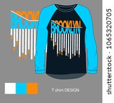 brooklyn typograpy  t shirt...   Shutterstock .eps vector #1065320705