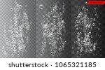 set of bubbles under water... | Shutterstock .eps vector #1065321185
