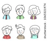 set of cute icon or profile... | Shutterstock .eps vector #1065321974
