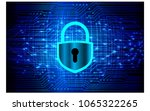 safety concept  closed padlock... | Shutterstock .eps vector #1065322265