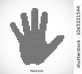 hand icon.pixel art.five finger ... | Shutterstock .eps vector #1065331544
