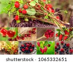 colorful collage of different... | Shutterstock . vector #1065332651