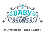 vector baby shower lettering.... | Shutterstock .eps vector #1065333857