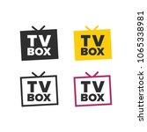 tv box icon | Shutterstock .eps vector #1065338981