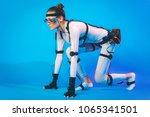 motion caption virtual reality | Shutterstock . vector #1065341501
