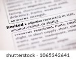 close up to the dictionary... | Shutterstock . vector #1065342641
