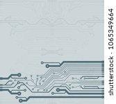 vector microchip background  | Shutterstock .eps vector #1065349664