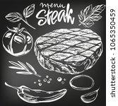 food meat  steak  roast ... | Shutterstock .eps vector #1065350459