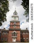 Small photo of Philadelphia, Pennsylvania, USA – July 31, 2016: Independence Hall façade in Philadelphia, Pennsylvania