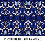ikat geometric folklore... | Shutterstock .eps vector #1065360089
