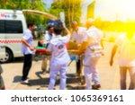 blurred medical commander of...   Shutterstock . vector #1065369161
