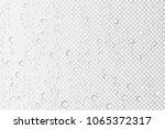 vector water drops on glass.... | Shutterstock .eps vector #1065372317