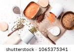 zero waste home style   cooking | Shutterstock . vector #1065375341