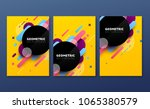 abstract geometric banners.... | Shutterstock .eps vector #1065380579