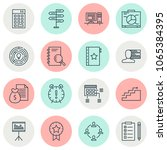 management icons set with idea... | Shutterstock .eps vector #1065384395