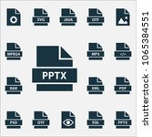 types icons set with software ...   Shutterstock .eps vector #1065384551