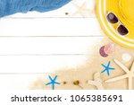 beautiful summer holiday beach...   Shutterstock . vector #1065385691