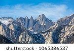 Mountain Whitney close-up view at Alabama Hills, Eastern Sierra Nevada Mountains, Lone Pine, California, USA.