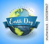 happy earth day background ... | Shutterstock .eps vector #1065389867