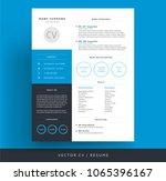 professional cv   resume... | Shutterstock .eps vector #1065396167