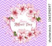 happy mother's day vector card. ... | Shutterstock .eps vector #1065398597