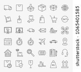 delivery line icons set. vector ... | Shutterstock .eps vector #1065401585