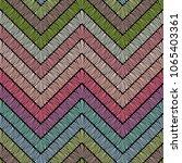 chevron zigzag embroidery... | Shutterstock .eps vector #1065403361