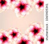 invitation backgrounds flowers | Shutterstock .eps vector #1065405341